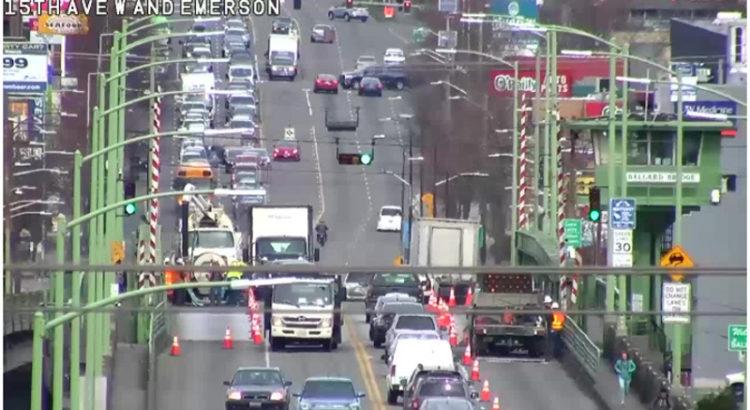 Upcoming lane closures on Ballard Bridge